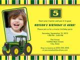 John Deere Tractor Birthday Party Invitations Printable Tractor John Deere Birthday Party Invitation