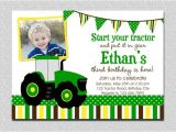 John Deere Tractor Birthday Party Invitations Tractor Birthday Invitation Tractor Birthday Party