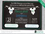 Joint Baby Shower Invitation Wording Joint Baby Shower Invitation Custom by Lukenshagedorndesign