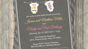 Joint Baby Shower Invitation Wording Joint Baby Shower Invitation Onesies by Freshlysqueezedcards