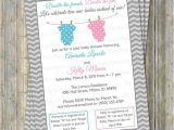 Joint Baby Shower Invitation Wording Joint Baby Shower Invitation Polka Dot Onesies Boy Girl