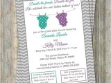 Joint Baby Shower Invitation Wording Joint Baby Shower Invitation Polka Dot Onesies Purple and