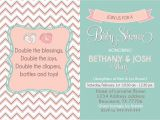 Joint Baby Shower Invites Couples Baby Shower Invitation Joint Shower by Sldesignteam
