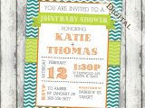 Joint Baby Shower Invites Joint Baby Shower Invitation Couples Shower by