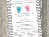 Joint Baby Shower Invites Joint Baby Shower Invitation Double Shower Mustache and Bow
