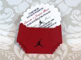 Jordan Baby Shower Invitations Jordan Jumpman Inspired Baby Shower Diaper by Lovinglymine