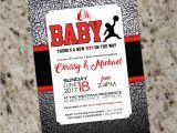 Jordan themed Baby Shower Invitations Air Jordan Baby Shower Invitations Baby Jumpman Customized