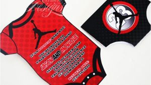 Jordan themed Baby Shower Invitations Eccentric Designs by Latisha Horton New Air Jordan