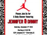 Jordan themed Baby Shower Invitations Items Similar to Jordan Red Babyshower On Etsy