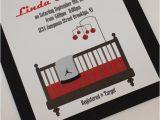 Jordan themed Baby Shower Invitations Items Similar to Red Jordan Jumpman Inspired Baby Shower