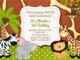 Jungle Birthday Invitation Template 17 Safari Birthday Invitations Design Templates Free