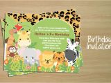 Jungle Birthday Invitation Template Birthday Invitation Card Jungle Invitation Templates