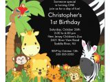 Jungle Birthday Invitation Template Free Cute Safari Jungle Birthday Party Invitations Zazzle Com