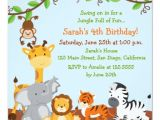 Jungle Birthday Invitation Template Free Cute Safari Jungle Birthday Party Invitations Zazzle