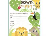 Jungle Birthday Invitation Template Free Jungle theme Birthday Invitations Free Printable Best