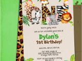 Jungle Birthday Invitation Template Jungle 1st Birthday Party Invitation Template Jungle