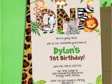Jungle Book Birthday Invitation Template Jungle 1st Birthday Party Invitation Template Jungle