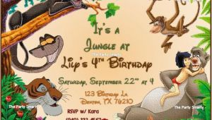 Jungle Book Birthday Invitation Template Jungle Book Birthday Invitation by thepartysmarty On Etsy