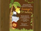 Jungle Book Birthday Invitation Template Safari Birthday Invitation Jungle Birthday by