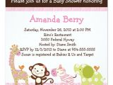 Jungle Jill Baby Shower Invitations Jungle Jill Animals Baby Shower Invitation