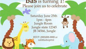 Jungle Party Invitation Template 40th Birthday Ideas Jungle Birthday Invitation Template Free