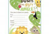 Jungle Party Invitation Template Jungle theme Birthday Invitations Free Printable Best