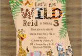 Jungle Party Invitation Template Safari Birthday Invitation Jungle Birthday Invitation Zoo