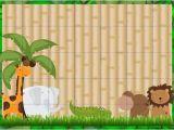 Jungle theme Baby Shower Invitation Templates Baby Shower Invitations Jungle theme Template
