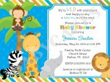 Jungle theme Baby Shower Invitation Templates Free Jungle Invitation Template