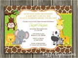 Jungle theme Baby Shower Invitation Templates Printable Jungle Baby Shower Invitation