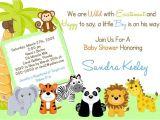 Jungle theme Baby Shower Invitation Templates Safari Baby Shower Invitations Free Template