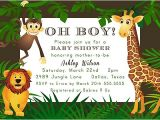 Jungle theme Baby Shower Invitation Wording Items Similar to Jungle theme Zoo Animal Baby Shower