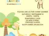 Jungle theme Baby Shower Invitation Wording Template Safari Baby Shower Invitations Wording Safari