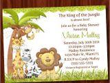 Jungle theme Baby Shower Invites 8 Best Of Jungle theme Invitations Free Printable