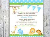 Jungle theme Baby Shower Invites Free Printable Baby Shower Invitations Jungle theme
