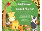 Jungle theme Baby Shower Invites Safari Jungle theme Baby Shower Invitations