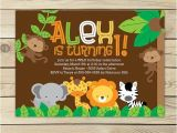 Jungle theme Birthday Invitations Free Printable Safari Jungle Birthday Invitation Printable Jungle