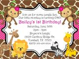 Jungle theme Birthday Invitations Free Printable Safari themed First Birthday Invitation Wording Birthday