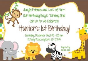 Jungle theme Party Invitation Templates Jungle theme Birthday Invitations Free Printable Negocioblog