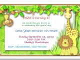 Jungle theme Party Invitation Templates Jungle themed 1st Birthday Invitations Safari themed