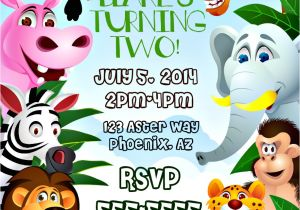 Jungle theme Party Invitation Templates themed Invitations Safari