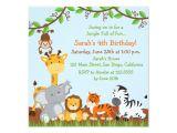 Jungle theme Party Invites Cute Safari Jungle Birthday Party Invitations Zazzle Com