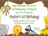 Jungle theme Party Invites Jungle theme Birthday Invitations Free Printable Negocioblog