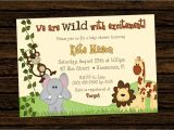 Jungle theme Party Invites Jungle themed 1st Birthday Invitations Safari 1st