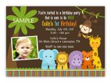 Jungle theme Party Invites Wild Jungle theme Birthday Party Invitation Boy or Girl You
