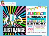 Just Dance Birthday Party Invitations Just Dance Birthday Invitations Printed Lullabyloo