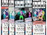 Just Dance Birthday Party Invitations Just Dance Hip Hop Birthday Party Ticket Invitations Vip