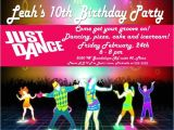 Just Dance Birthday Party Invitations Just Dance Invites Just Dance Party Invite We Had A