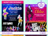 Just Dance Birthday Party Invitations Kenia On Etsy