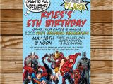 Justice League Birthday Invitations Printable Avengers Birthday Invitation Justice League by Ohsewlittle